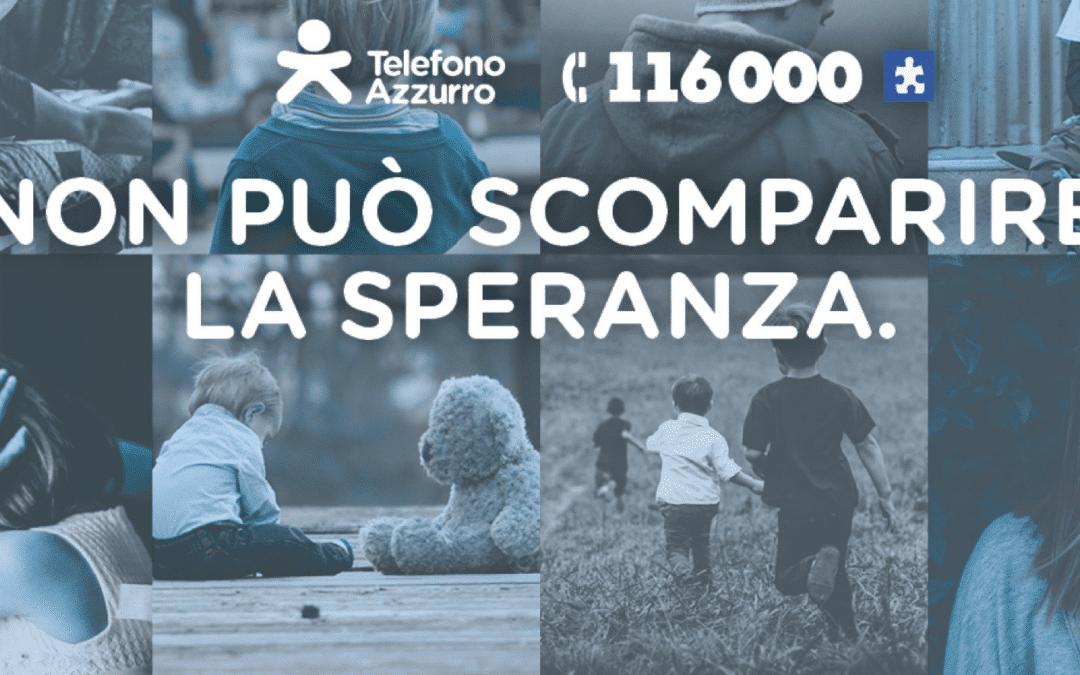 TELEFONO AZZURRO REFLECTS UPON THE INTERNATIONAL DAY OF MISSING CHILDREN